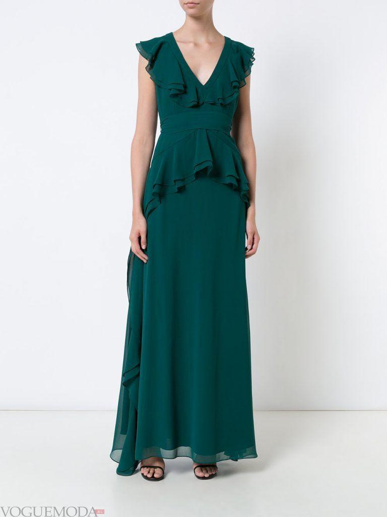 вечернее платье зеленое