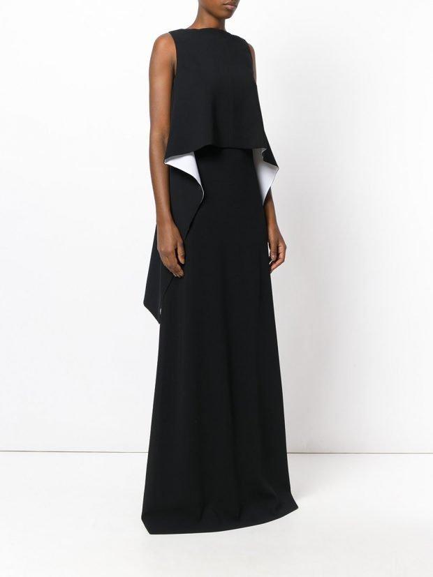 Модные вечерние платья: с рюшей