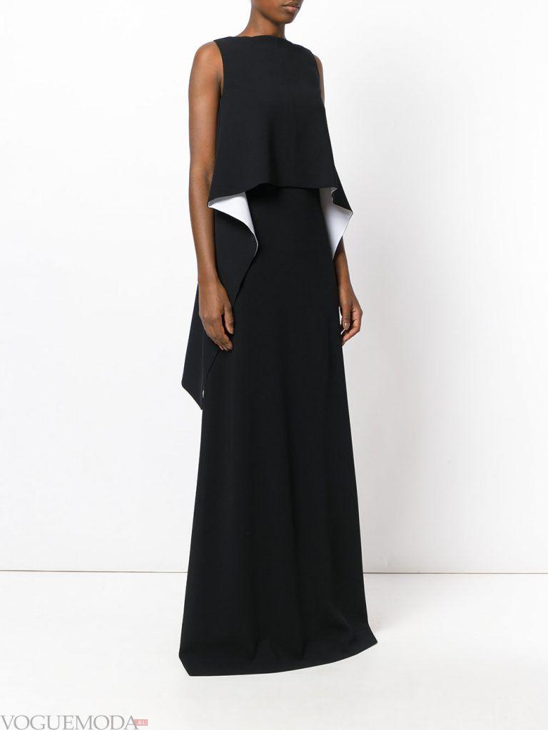 вечернее платье с рюшей