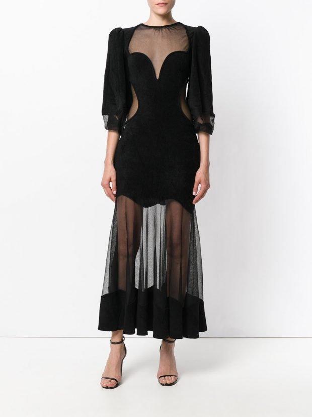 Модные вечерние платья 2020 2021: черное