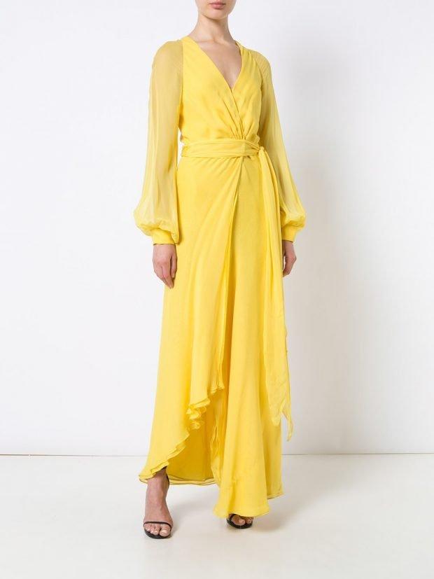 Модные вечерние платья 2020 2021: желтое