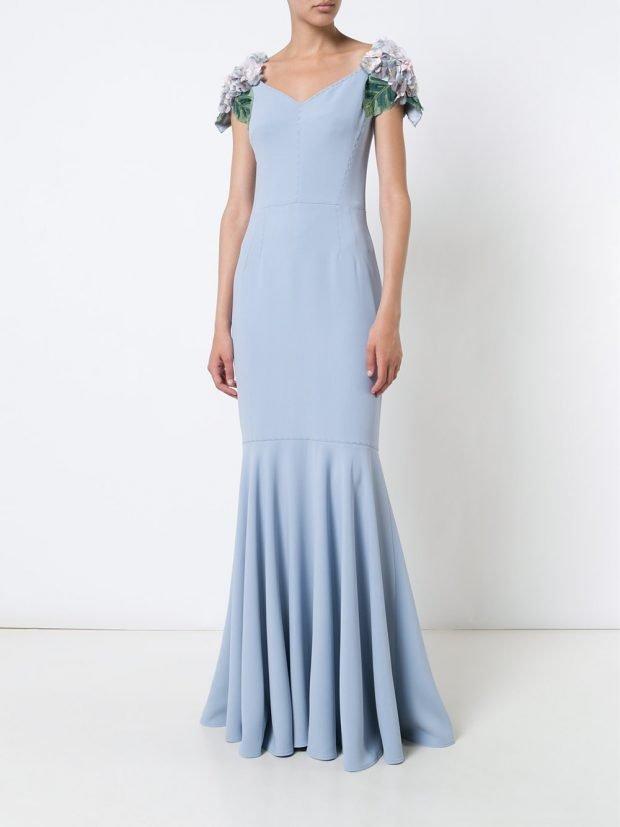 Модные вечерние платья 2020 2021: голубое