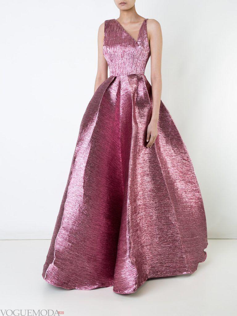 вечернее платье сиреневое