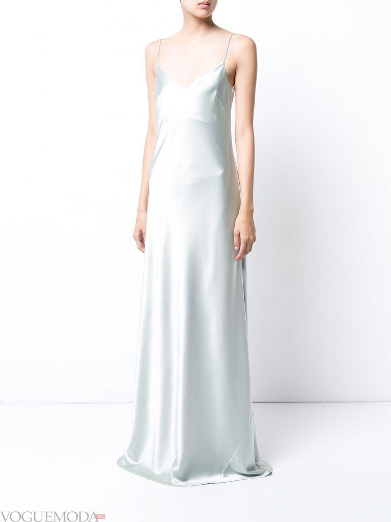 вечернее платье комбинация шелковое
