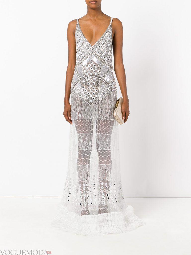 вечернее платье комбинация прозрачное