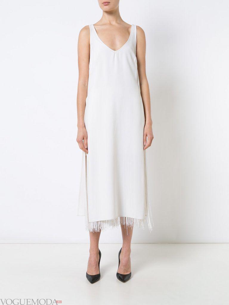 вечернее платье комбинация белое
