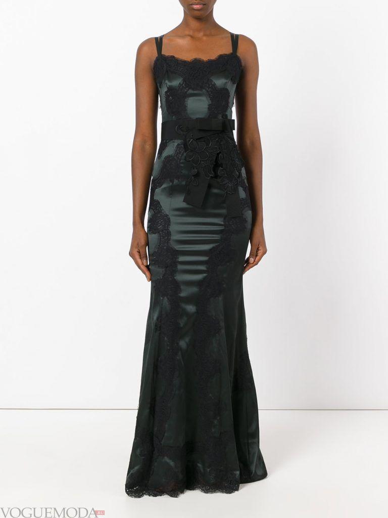 вечернее платье комбинация черное