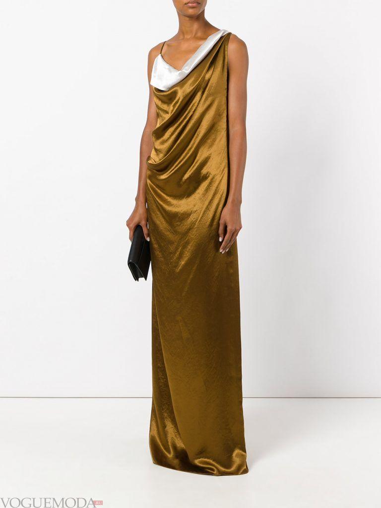 вечернее платье комбинация золотое