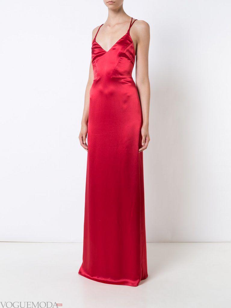 вечернее платье комбинация красное
