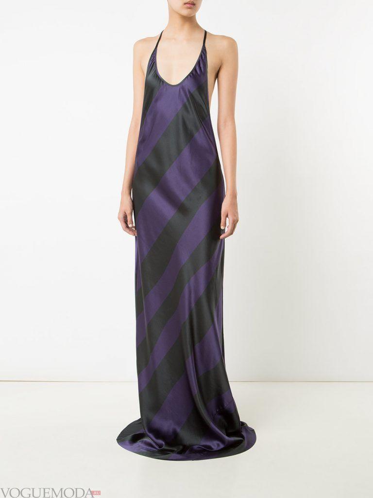 вечернее платье комбинация в полоску