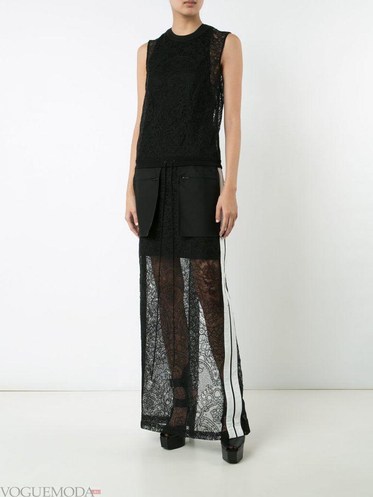 вечернее черное платье прозрачное