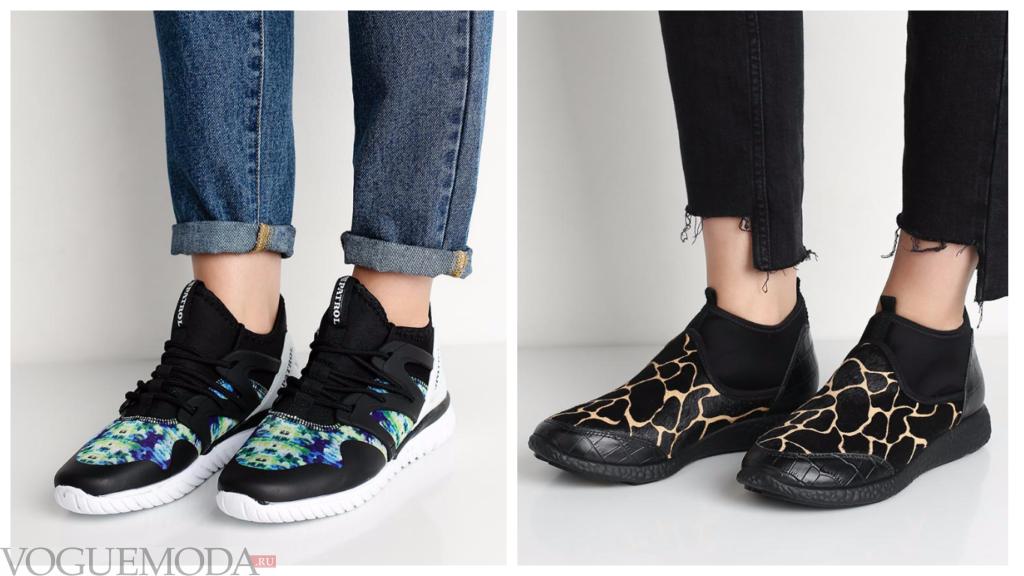 высокие кроссовки с узорами