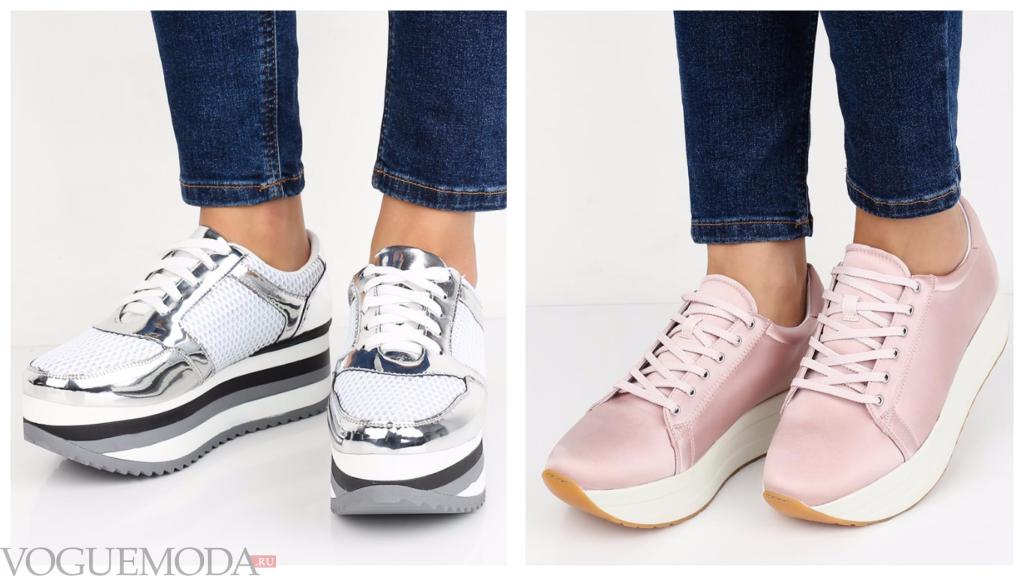 модные кроссовки весна лето 2018 на платформе