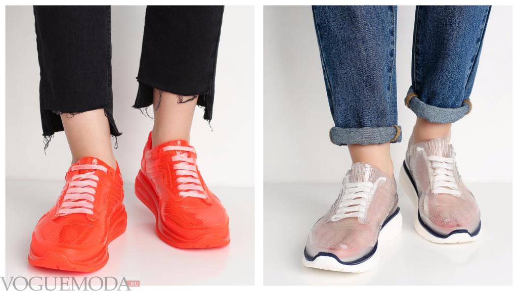 модные оригинальные кроссовки весна лето 2018