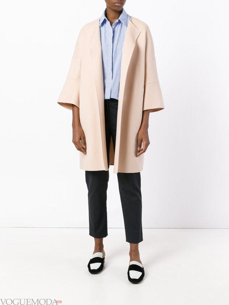 пальто «оверсайз» розовое