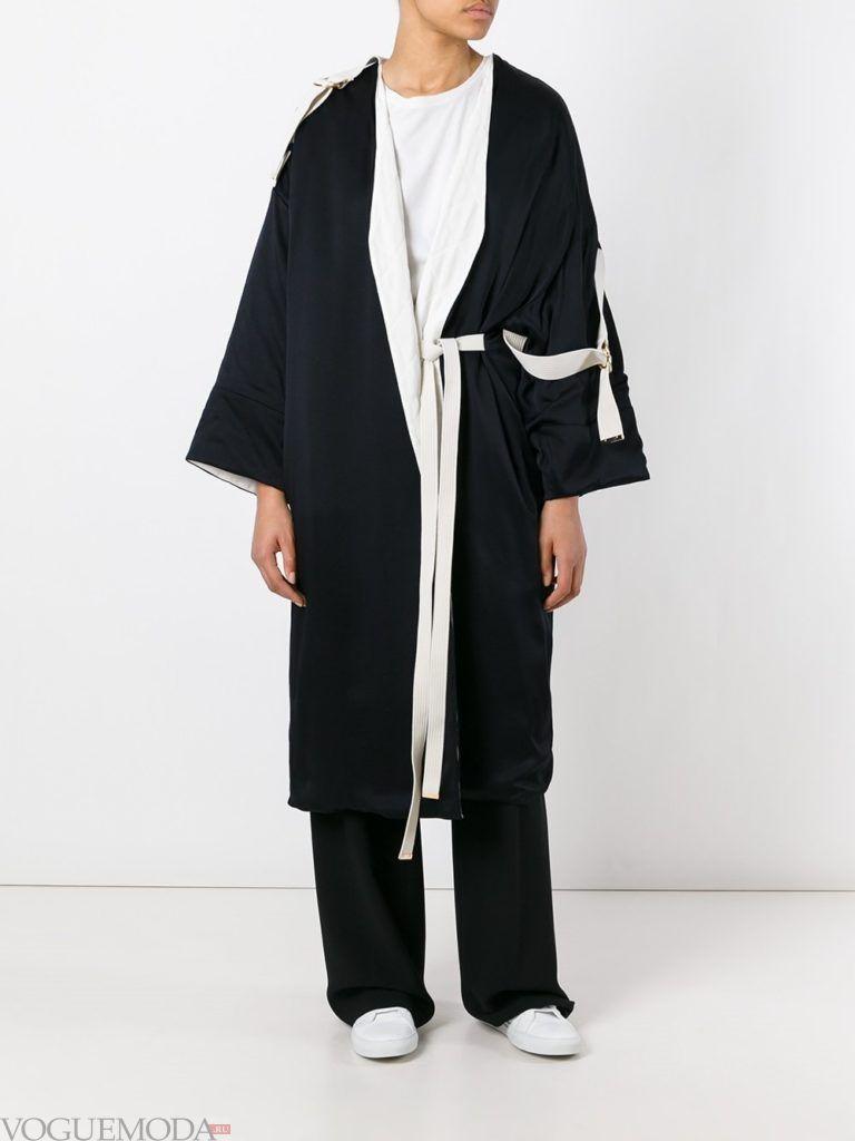 пальто «оверсайз» темное