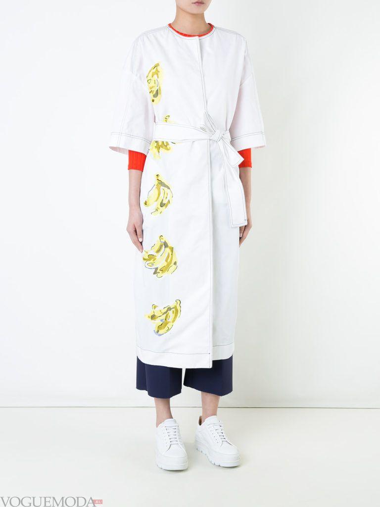 пальто «оверсайз» белое