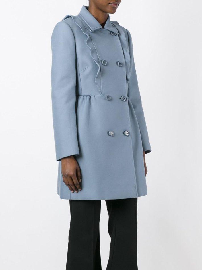 Модные пальто осень зима 2019 2020: с рюшами