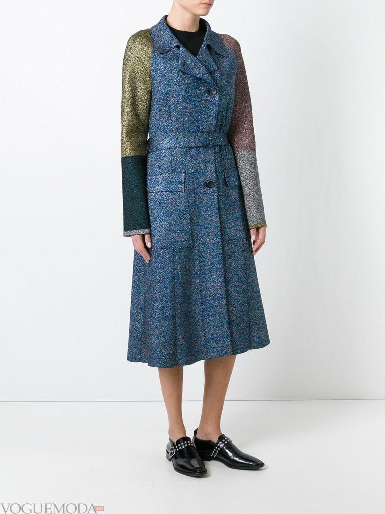 модное пальто длинное