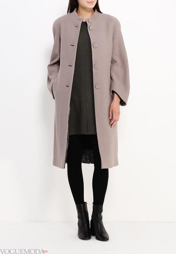 длинное пальто нюдовое