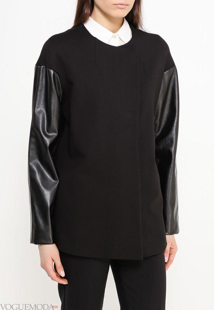 короткое пальто черное