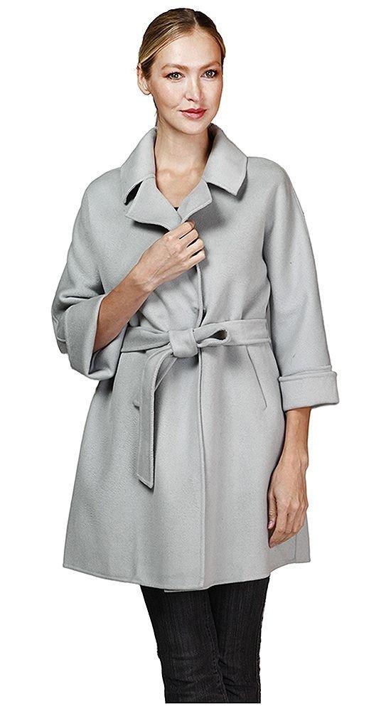 пальто с укороченным рукавом светлое