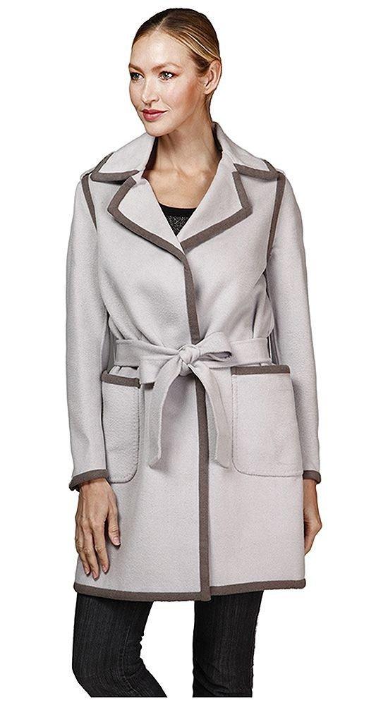 модное пальто с воротником