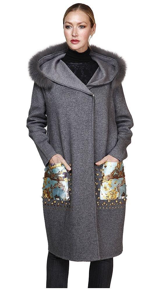 модное пальто с карманами