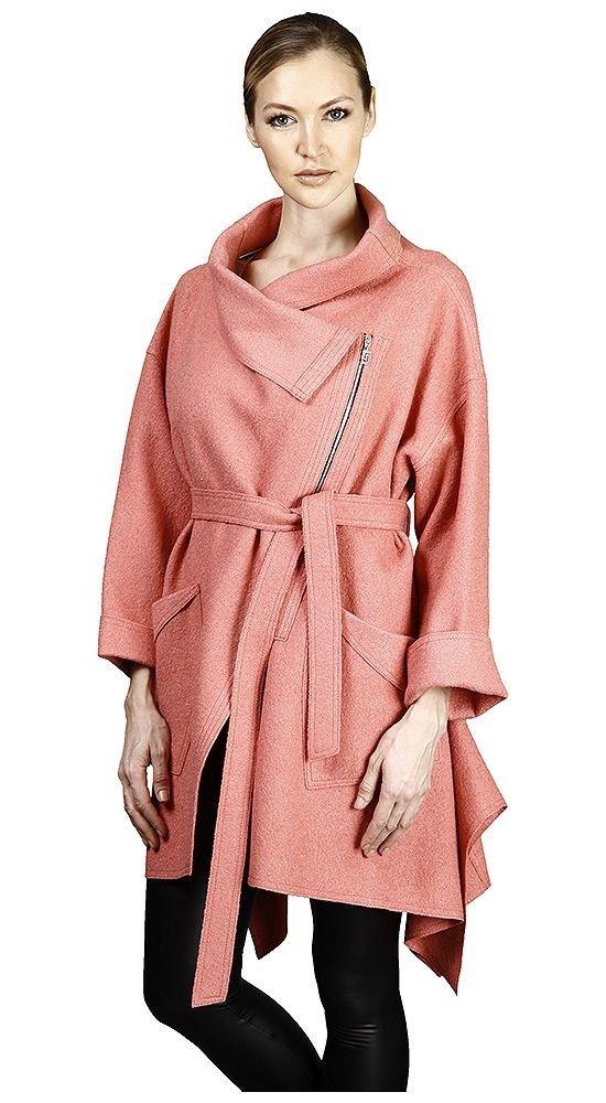 модное пальто чайная роза