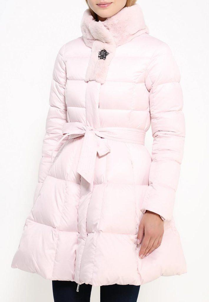 пуховик платье розовый