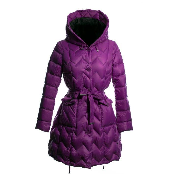 пуховик платье фиолетовый