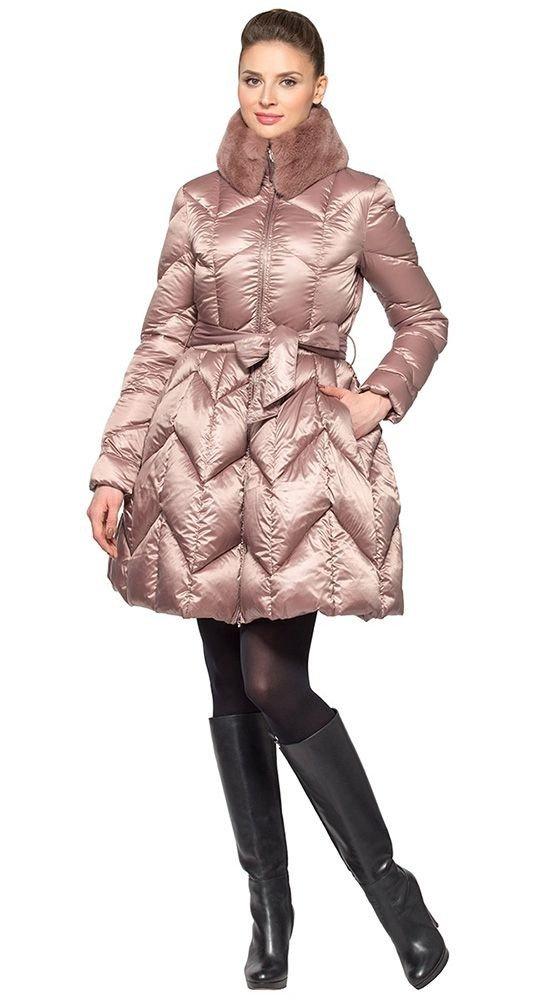 пуховик платье нюдовый