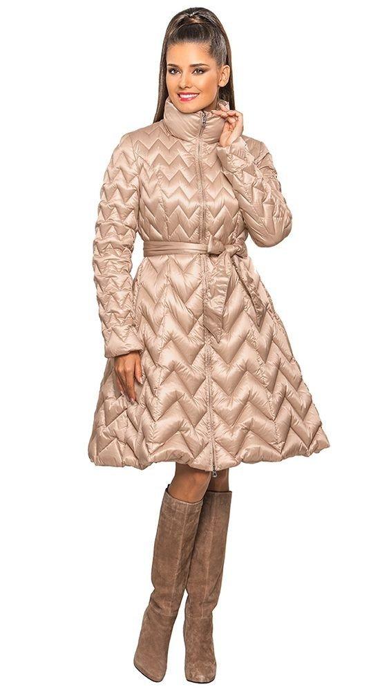 стеганый пуховик платье