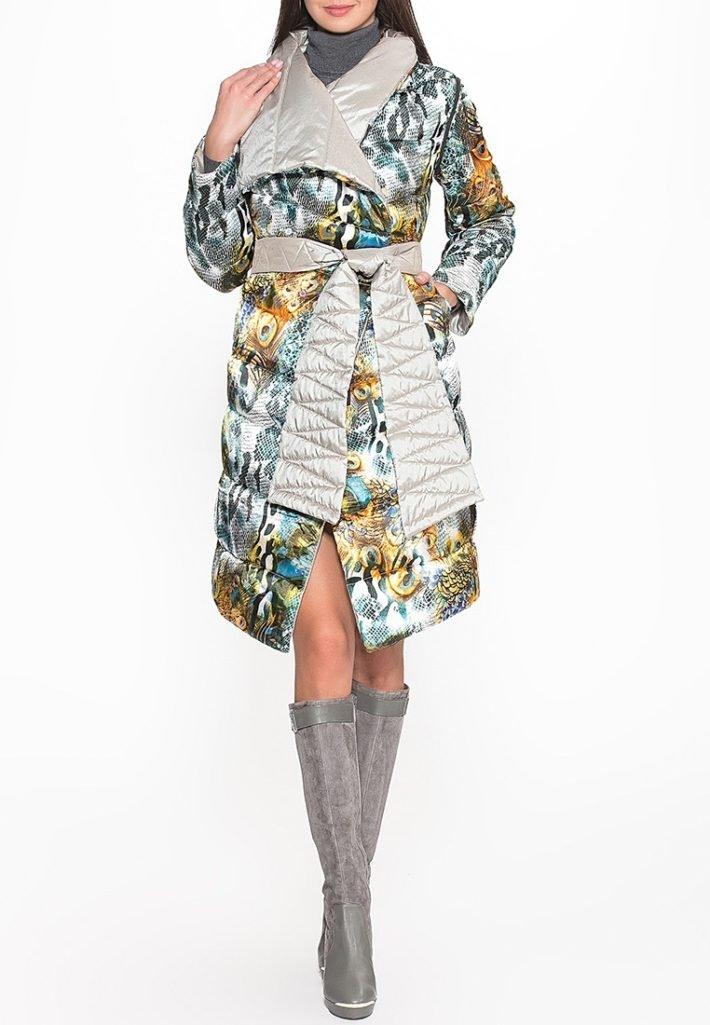 Модные пуховики осень зима с рисунком
