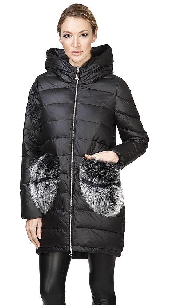 Модные пуховики осень зима черный