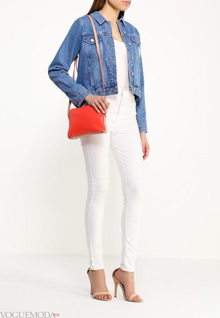 модные брюки белые
