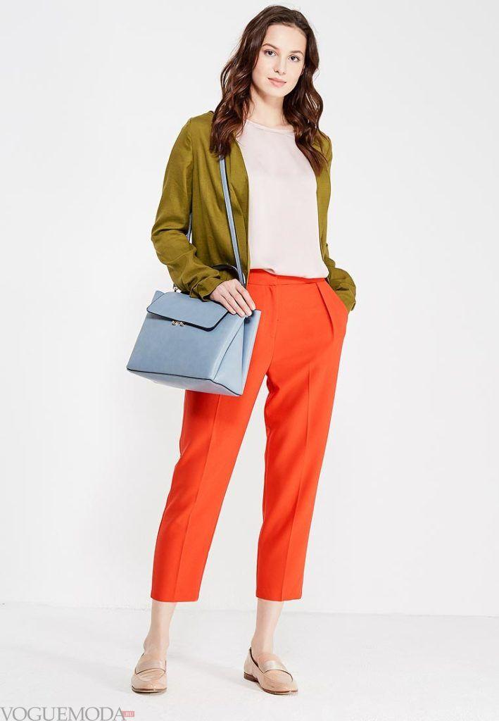 модные брюки оранж
