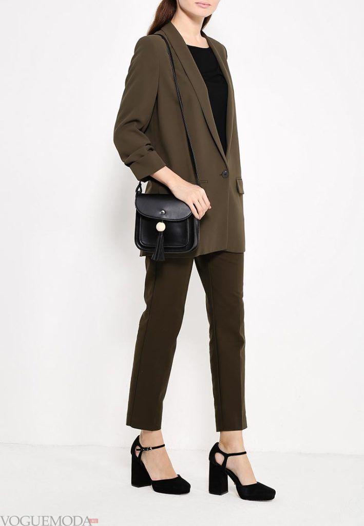 модные брюки оливковые