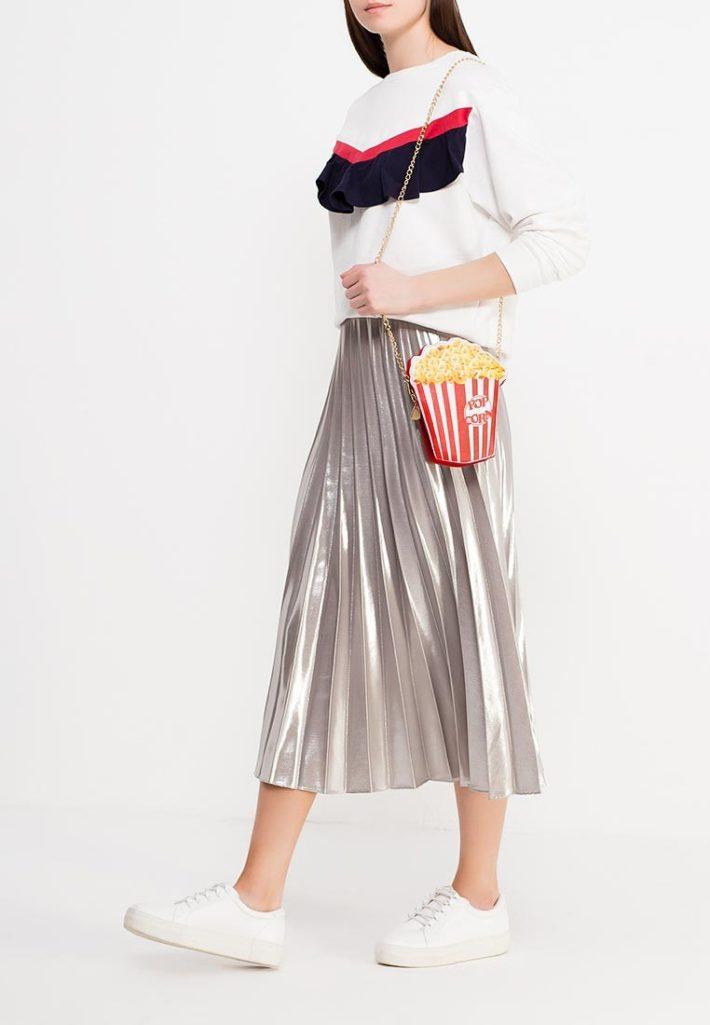модная юбка плиссе