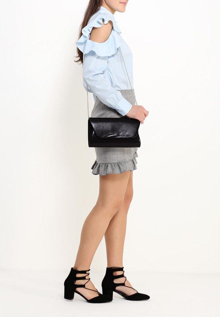 модная юбка с рюшей