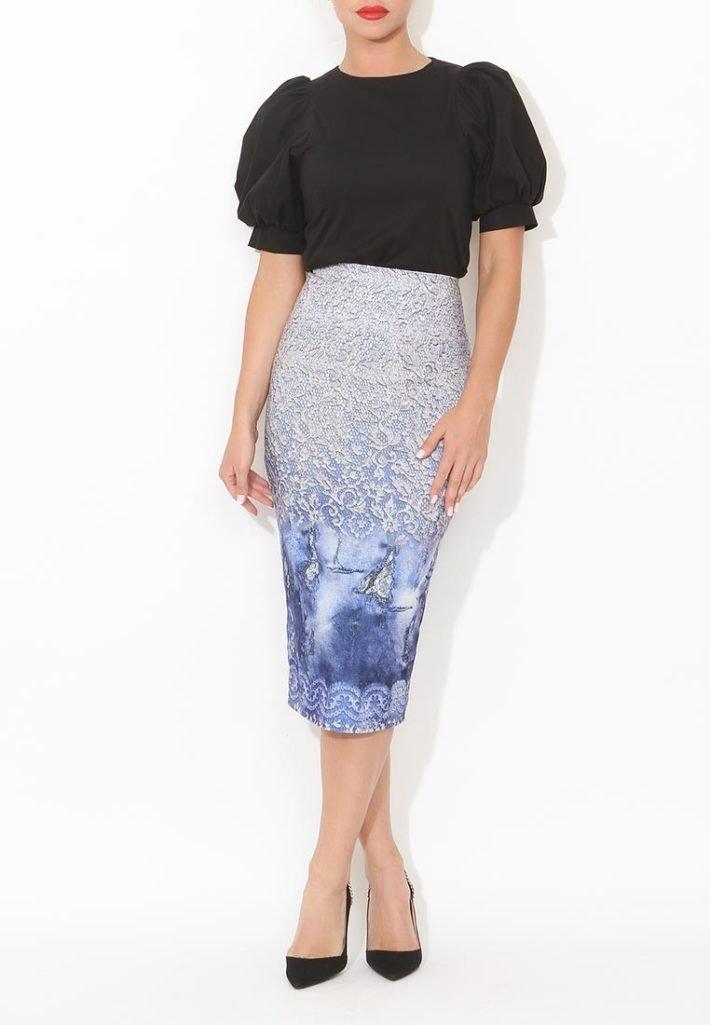 модная юбка с орнаментом
