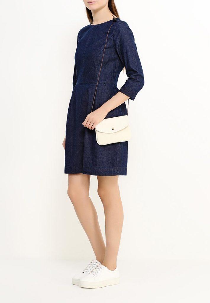 модное платье синее