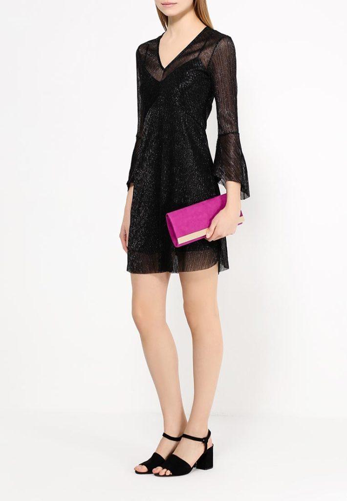 модное платье черное