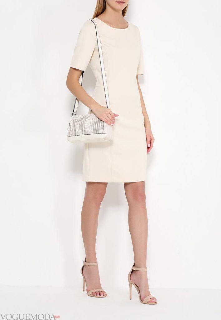 модное платье светлое