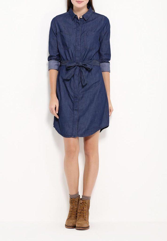 модное платье джинсовое