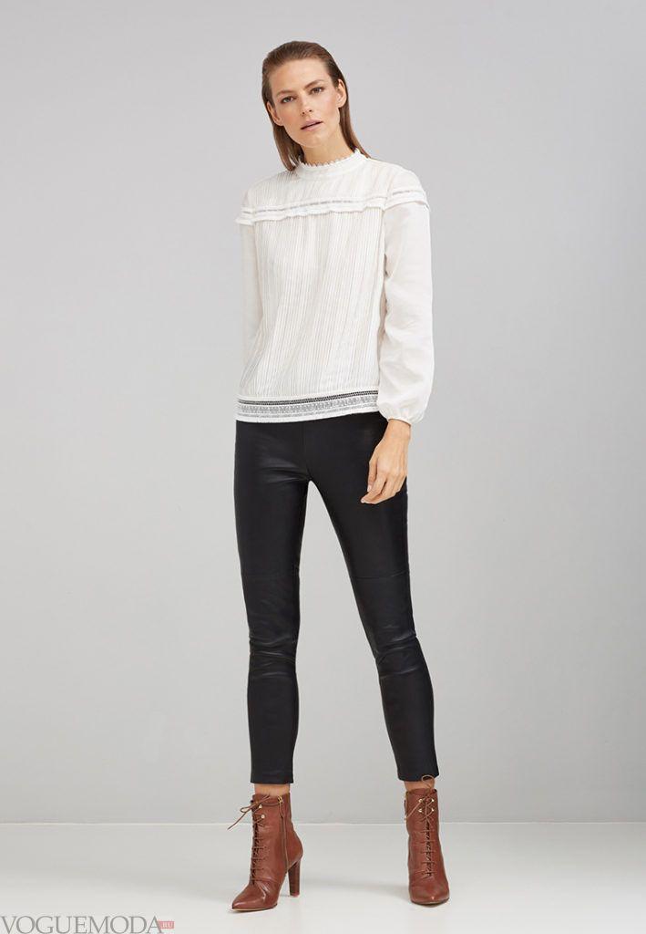 модная блуза белая