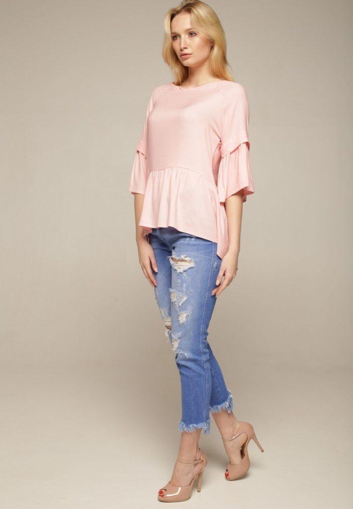 модная блуза розовая
