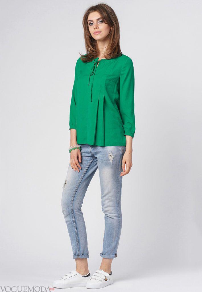 модная блуза зеленая