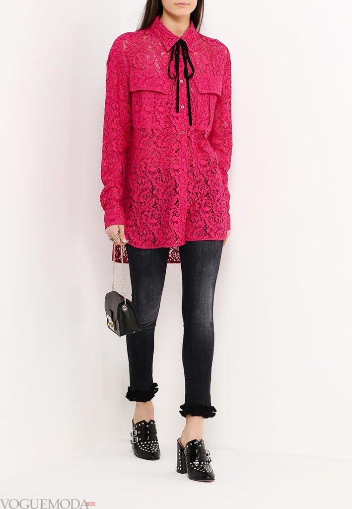 модная блуза кружево