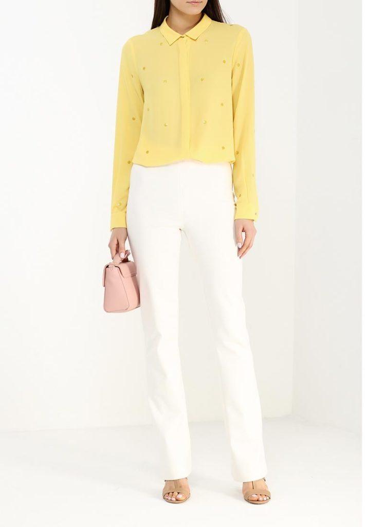 модная блуза желтая